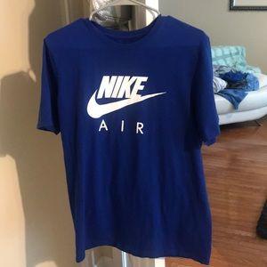 Men's royal blue Nike tee